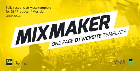 mixmaker dj producer music band website responsive muse template