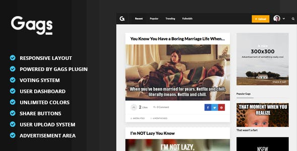 funny wordpress themes from themeforest