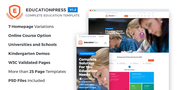 educationpress complete education template by themecycle themeforest
