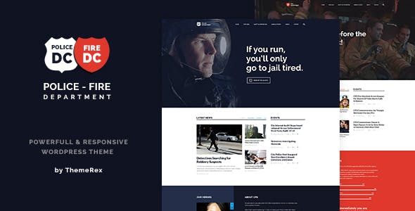 Police Fire Departments And Security Business WordPress Theme