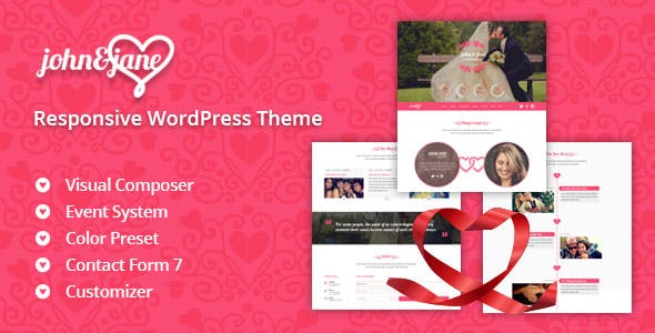 wedding ceremony theme templates from themeforest