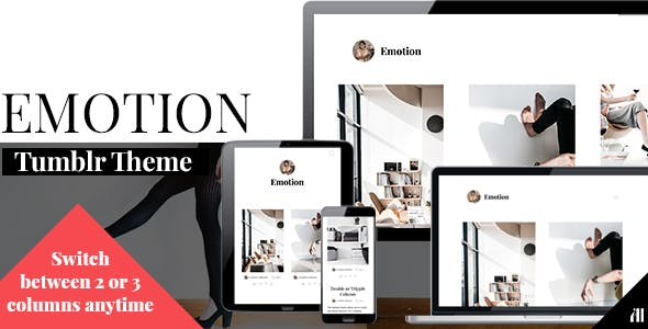 Emotion - Clean Tumblr Theme by Artistic_Influence | ThemeForest