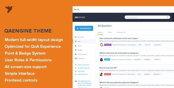 question answer website templates from themeforest