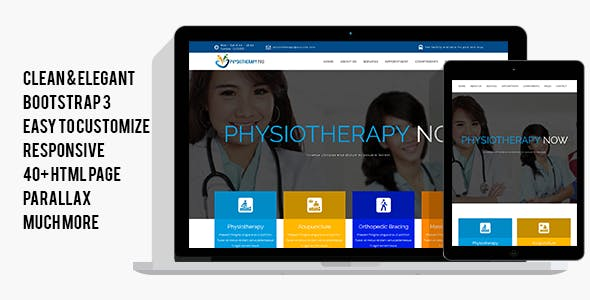 Physical Therapy HTML Website Templates from ThemeForest