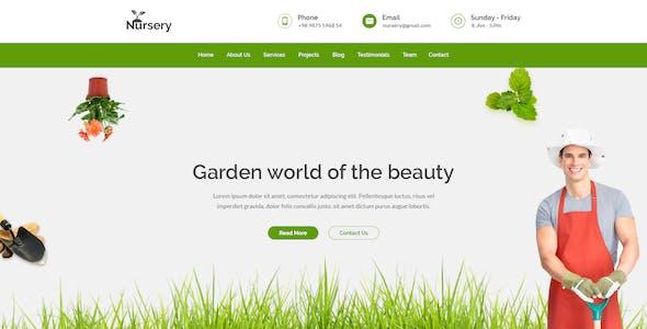 Nursery Gardening Psd Template