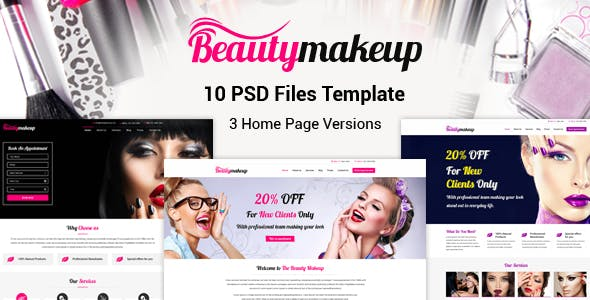 Beauty Makeup Website Templates From ThemeForest