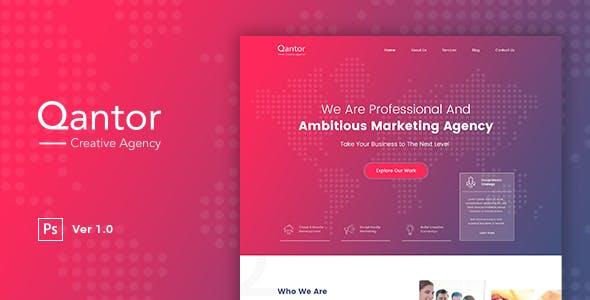 Qantor Creative Agency Office Psd Template