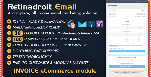 responsive email template invoice template mailchimp email editor ready html email templates