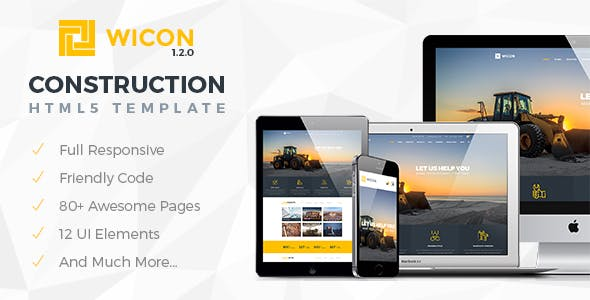 Construction Company Profile Website Templates from ThemeForest