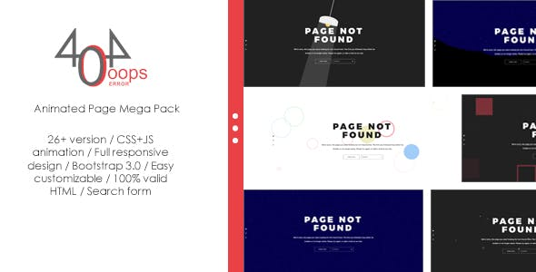 404 template templates from themeforest