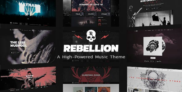 rebellion music theme for bands and record labels by edge themes