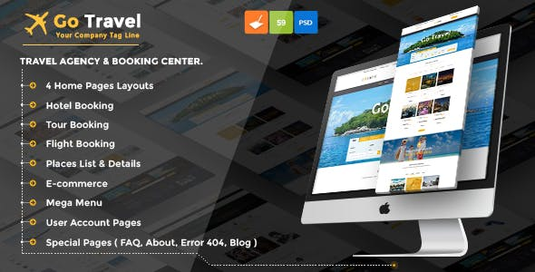 Flight Booking Templates from ThemeForest
