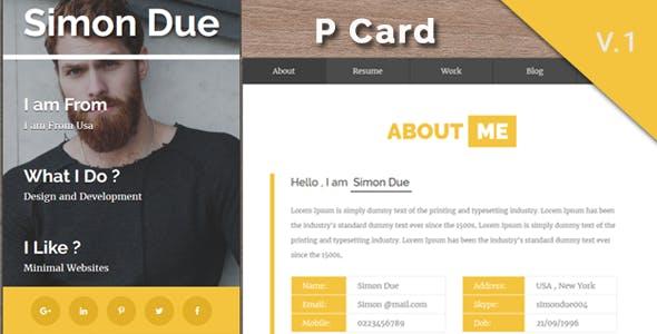 Bootstrap 4 personal portfolio html business card website templates pcard personal minimal v card template colourmoves