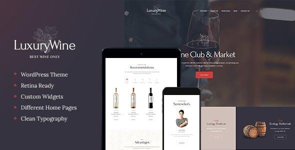Luxury Wine Website Templates from ThemeForest
