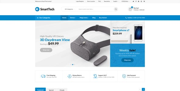 Tech eCommerce Website Templates from ThemeForest