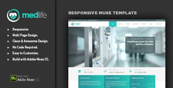 Responsive Email Template Adobe Muse Themes Muse Templates - Adobe muse website templates