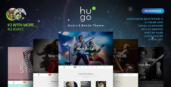 Music Artist Website Templates from ThemeForest