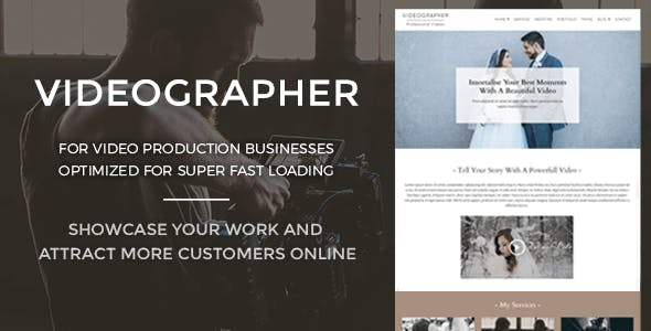 Video Production Website Templates from ThemeForest