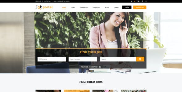 Employee Portal Website Templates from ThemeForest