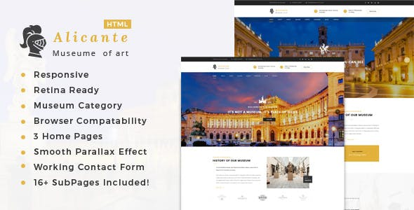 art gallery html website templates from themeforest