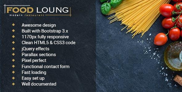 food loung restaurant website template