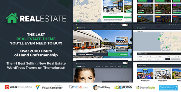 Real estate website templates from themeforest real estate 7 real estate wordpress theme pronofoot35fo Image collections