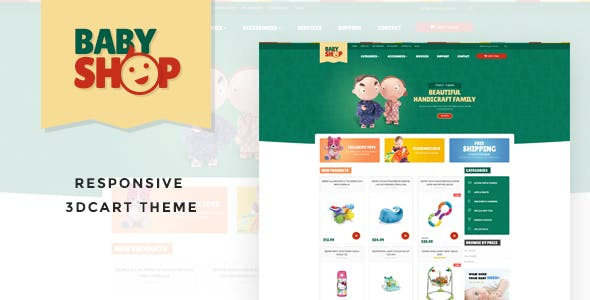 Leo baby Responsive 3dcart Theme nulled theme download