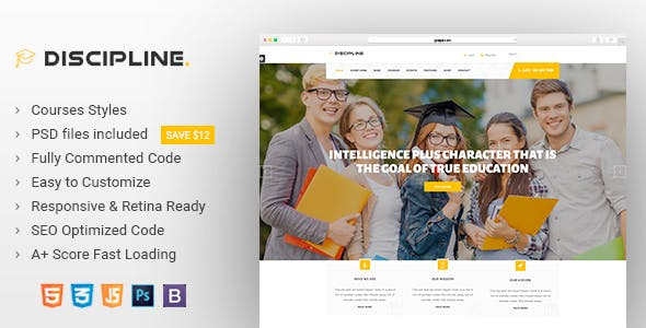 Education Website Templates From ThemeForest - Education website templates