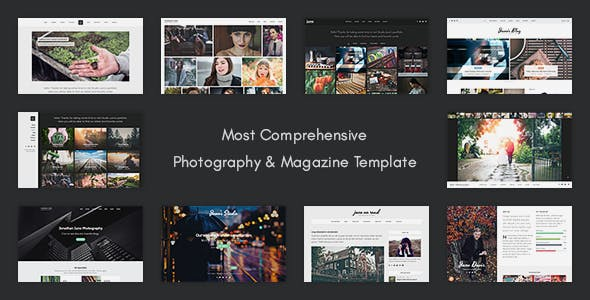 Nature Photo Gallery Website Templates from ThemeForest
