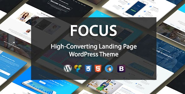 product launch website templates compatible with visual composer