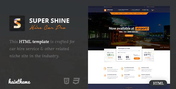 Truck Rental Templates from ThemeForest