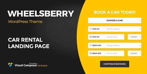 Wheelsberry – Car Rental WordPress Theme / Landing Page
