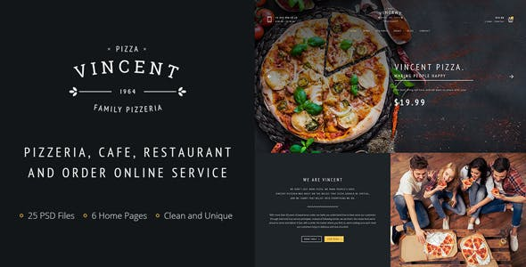 pizza website templates from themeforest