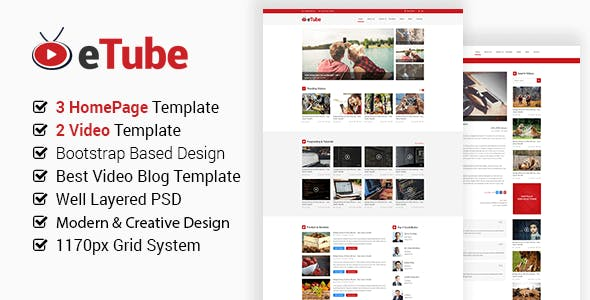 Video Website Templates from ThemeForest