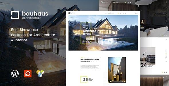 Bauhaus Website Templates From ThemeForest - Real estate photography website template