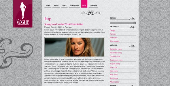 Vogue Website Templates from ThemeForest