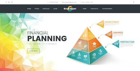 bookkeeping and accounting website templates from themeforest