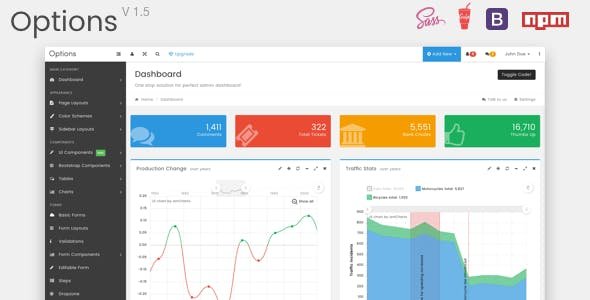 bootstrap admin template Free Download | Envato Nulled