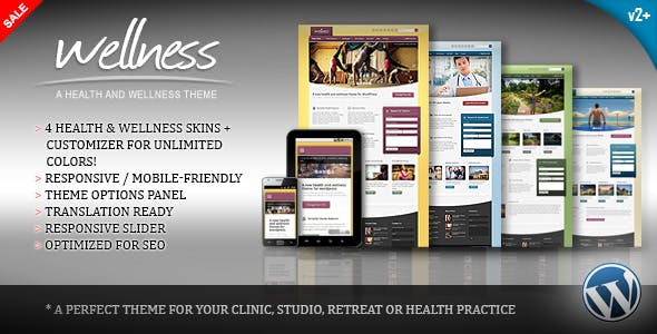 Health And Wellness Website Templates From Themeforest