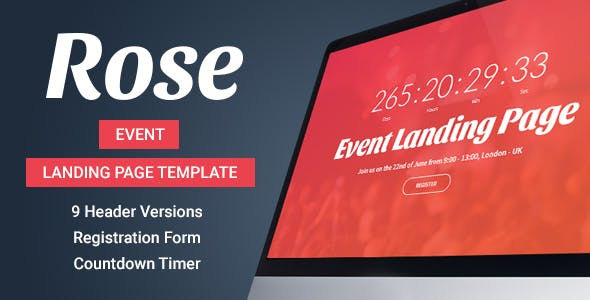 online registration templates from themeforest