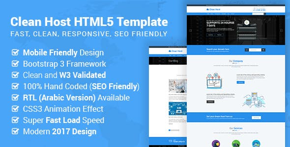 Bootstrap HTML Website Templates compatible with Facebook