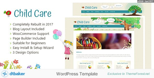 Family tree wordpress website templates from themeforest child care creative wordpress shop theme saigontimesfo