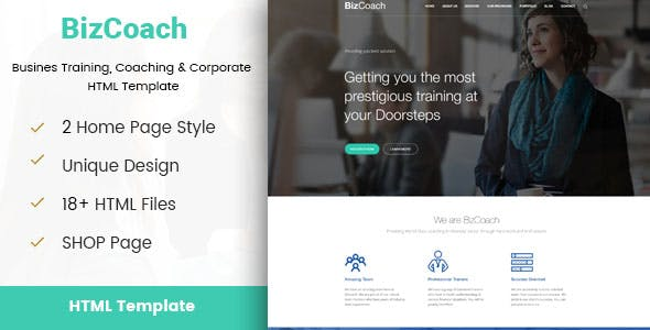 Business coaching templates from themeforest bizcoach busines training coaching corporate html template friedricerecipe Gallery
