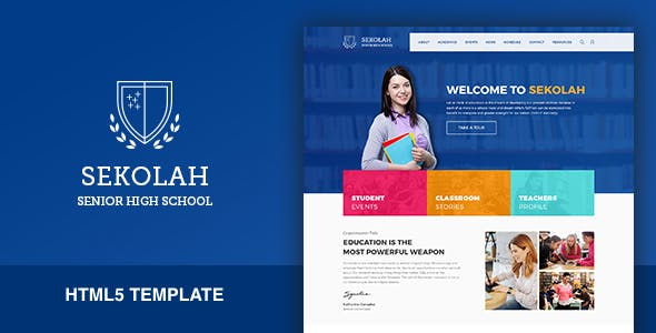 High School Website Templates From Themeforest