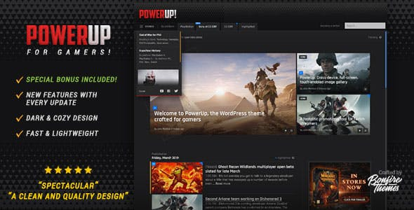 Video Games Website Templates from ThemeForest