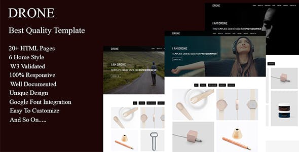 Drone HTML Website Templates from ThemeForest