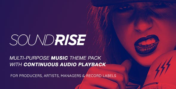 record label website templates from themeforest