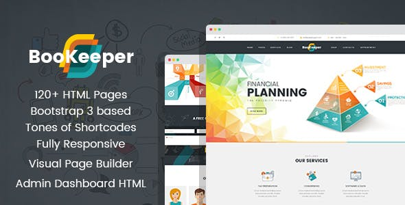 bookkeeping website templates from themeforest