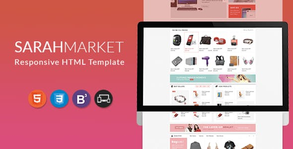 Grocery Store HTML Website Templates from ThemeForest