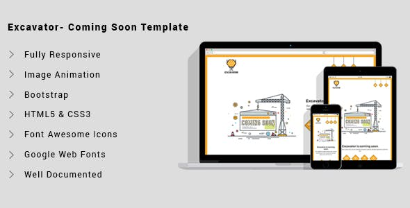 Excavation Website Templates from ThemeForest